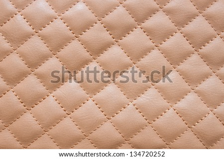 Brown leather background,Brown leather  texture. - stock photo
