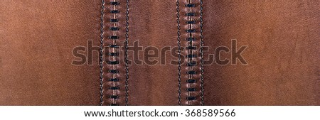 Brown leather background, texture - stock photo