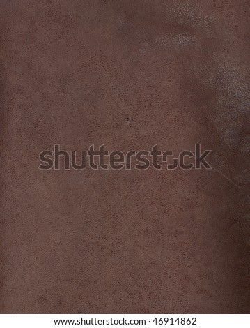 brown leather background textured with graining patterns - stock photo