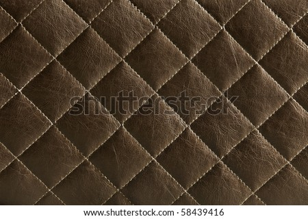 Brown leather pattern - stock photo