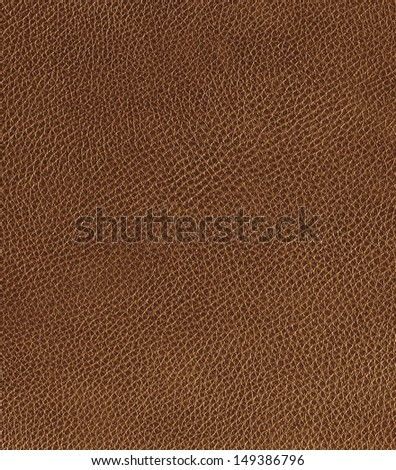 Brown leather texture, background - stock photo