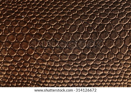Brown leather texture background, close up - stock photo
