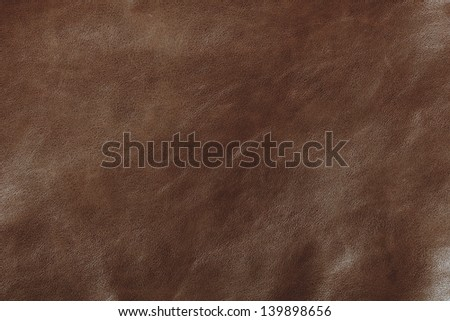 Brown leather texture, Macro closeup for design work  - stock photo
