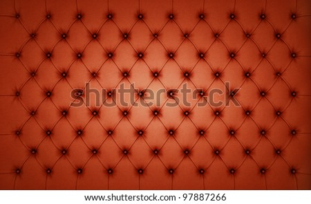 Brown Luxury buttoned leather pattern. Large resolution - stock photo