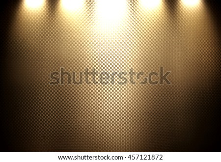 brown metal mesh with spotlight background - stock photo