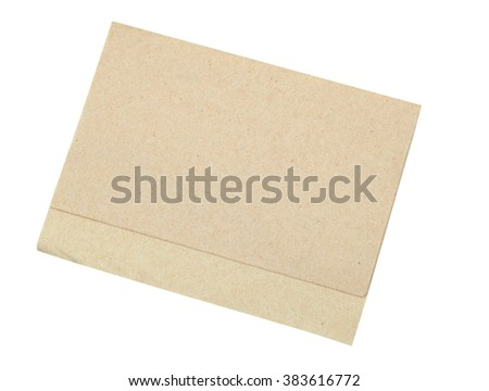 Brown napkin paper isolated - stock photo