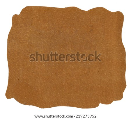 Brown natural leather texture  - stock photo