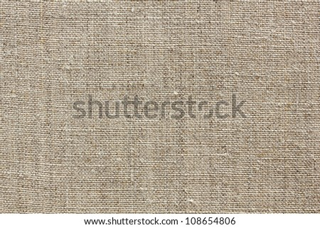 brown natural linen texture for the background - stock photo