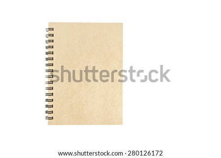 Brown notepad  on isolated white