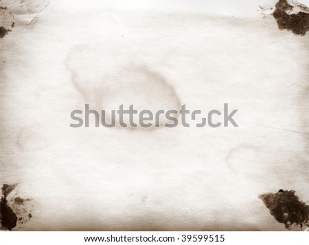 Brown old paper surface - stock photo