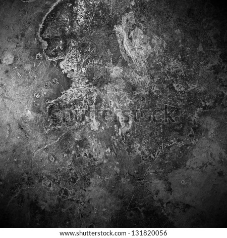 brown old rust metal plate background or vintage abstract texture - stock photo