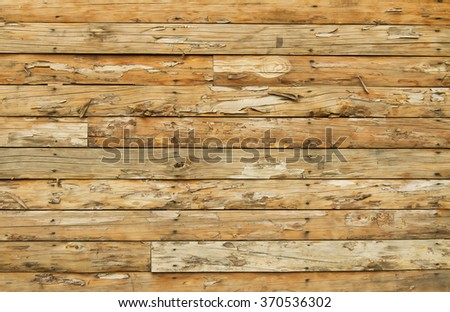 Brown Old Weathered Wooden Wall Background Texture - stock photo