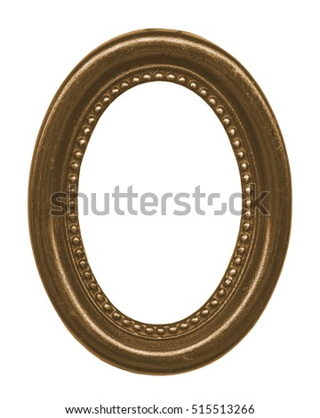 brown oval frame for Your photo isolated