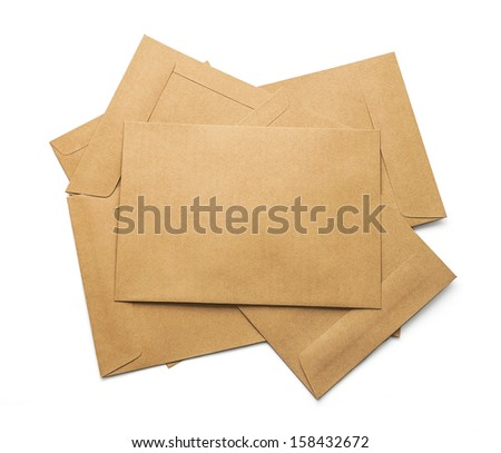 brown pack document - stock photo
