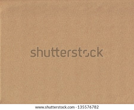 Brown packing paper as background, close up - stock photo