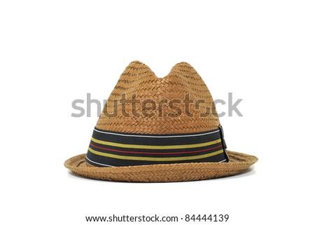 brown panama hat - stock photo