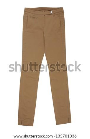 brown pants - stock photo