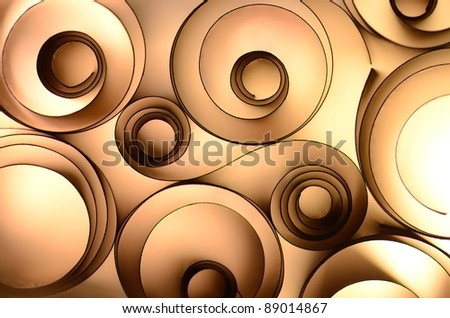 brown paper decoration - stock photo