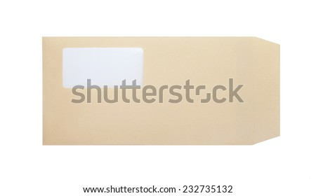 Brown paper envelope with blank space for address - stock photo