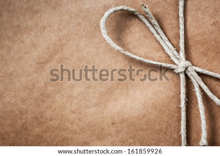 Brown paper parcel with copy space