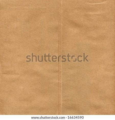 Brown paper sheet - stock photo