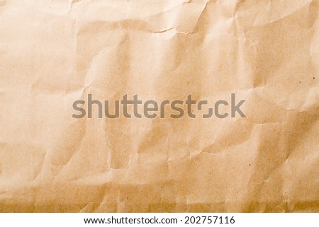 Brown paper shopping bag background