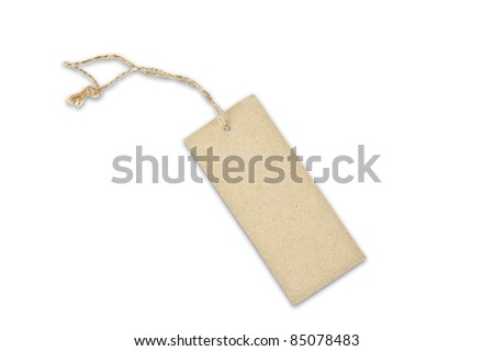 Brown paper tag - stock photo
