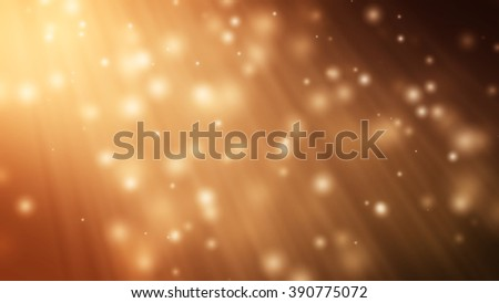 Brown particle  background and light rays.