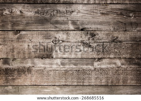 Brown peeling paint wooden desk texture. - stock photo