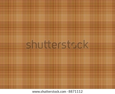 brown plaid pattern - stock photo
