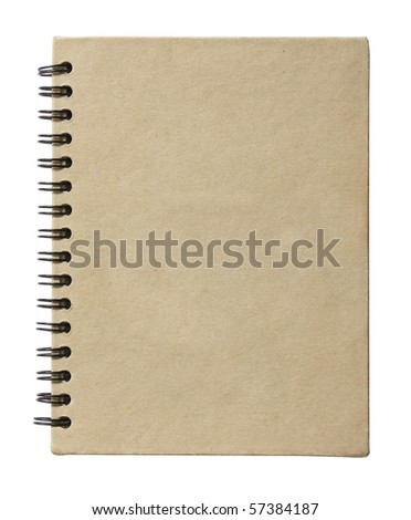Brown plain closed notebook - stock photo