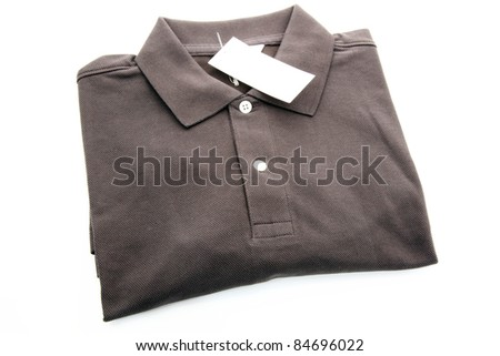 Brown polo Shirt - stock photo