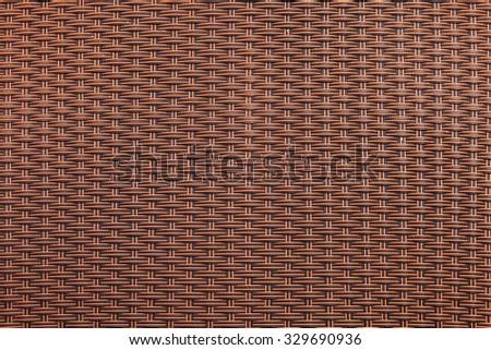 Brown rattan texture for background - stock photo