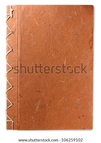brown recycle paper notebook, isolated on white background (Save Paths For design work) - stock photo
