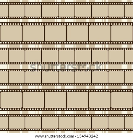 Brown retro background with film strips. Raster version - stock photo