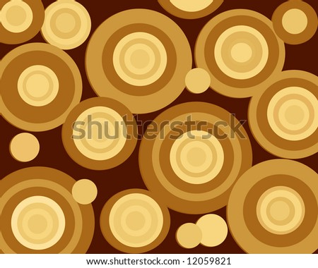 Brown Retro Circles Background
