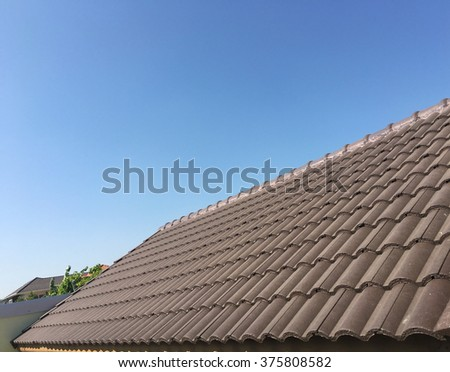 Brown roof with sky