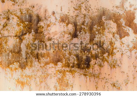 Brown rusty old textured wall background - stock photo