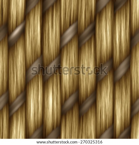 brown seamless weaving texture pattern wood  or hair - stock photo