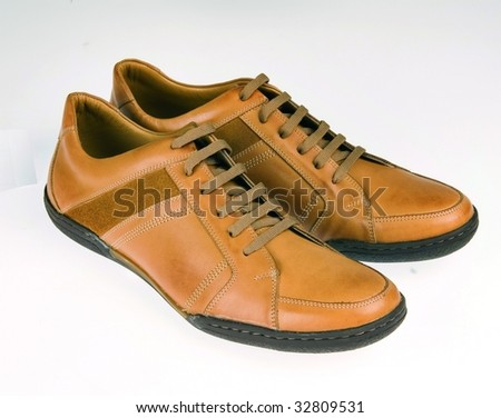 brown shoes - stock photo
