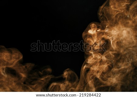 Brown smoke background. - stock photo