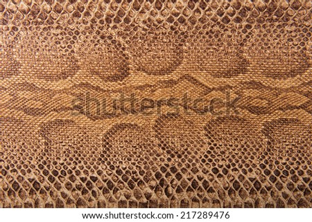 Brown snake pattern imitation, background - stock photo