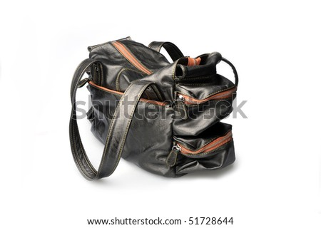 Brown sport handbag with locks