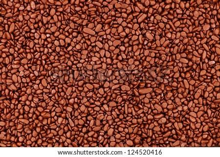 Brown stones background - stock photo