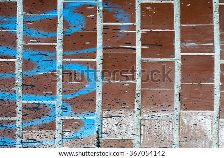 brown stucco with paint