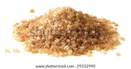 Brown sugar heap - stock photo