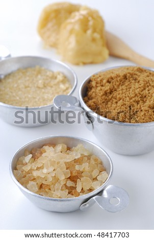 Brown sugar in cups