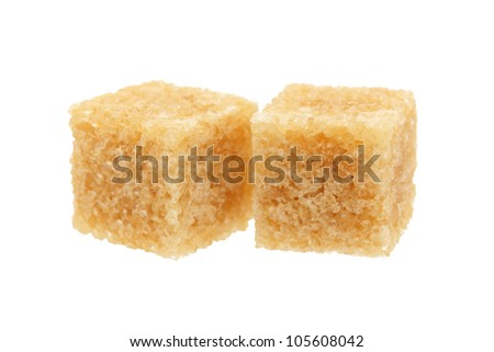 brown sugar isolated on white - stock photo
