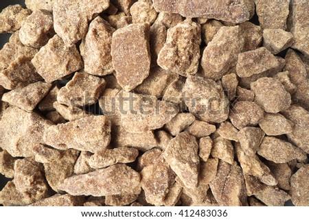 brown sugar lump - stock photo
