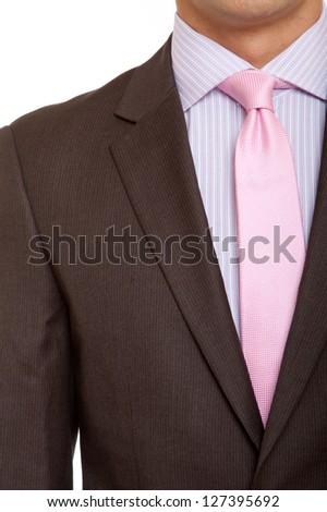 Brown Suit Pink Tie Stock Photo 127395692 - Shutterstock
